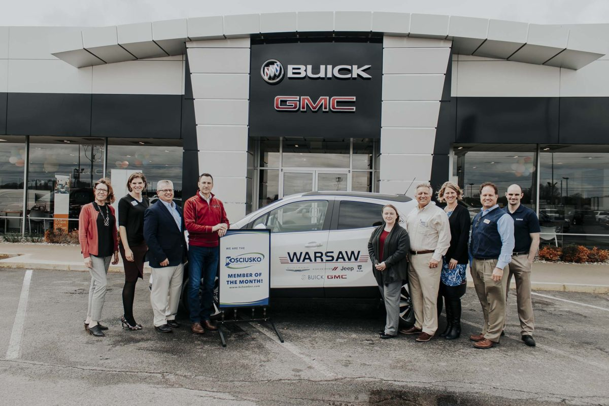 Warsaw Buick Gmc >> Warsaw Buick Gmc Is Our May Member Of The Month Kosciusko Chamber